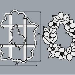 RoscaRosaMosqueta.jpg Télécharger fichier STL Rosca Navideña, Un Noël différent. • Design imprimable en 3D, crcreaciones3d