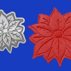 EsteFedSensilla.jpg Télécharger fichier STL Fleur de Noël, étoile fédérale • Plan pour imprimante 3D, crcreaciones3d