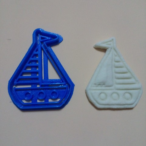 3D print files Sailboat, Boat, Marine, Cookie Cutter, Cookies Cutter, crcreaciones3d