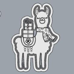 LlamaBufanda.jpg Télécharger fichier STL Llama Navideña, Un Noël différent. • Design pour imprimante 3D, crcreaciones3d