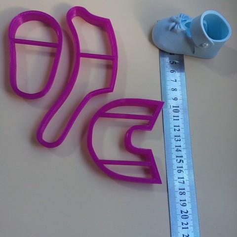 20180606_161615.jpg Télécharger fichier STL Zapatito, Bebe, Fondant Cutter, Cutter of Edible Pasta, Cold Porcelain and Ceramic • Plan à imprimer en 3D, crcreaciones3d