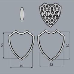 EscudoBoca60mm.jpg Télécharger fichier STL Protection buccale, coupe-biscuits. • Objet à imprimer en 3D, crcreaciones3d