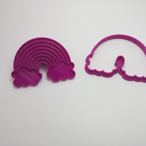 STL file Cookie Cutter, Frame Cookie Cutter, Fondant Cutter, Cookies Cutter, Edible Pasta and/or Cold Porcelain, Rainbow, Seal, crcreaciones3d