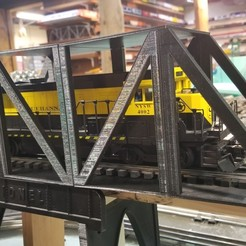Download STL file Model Train Bridge (Functional, Modular, & Scalable truss bridge), the3dcoder