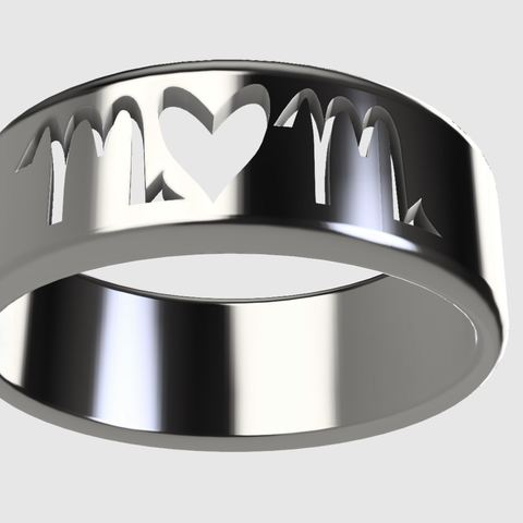 Free STL Mom Ring/Mothers Day (Makes a great gift!) , the3dcoder