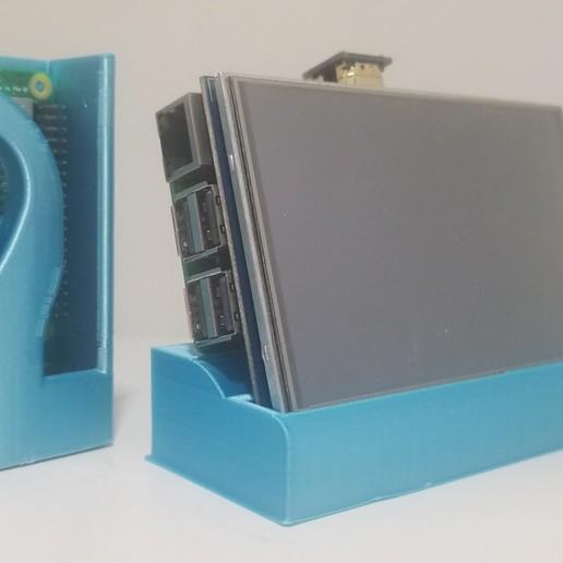 Impresiones 3D gratis Combo de Frambuesa Pi & 5in Screen Base, the3dcoder