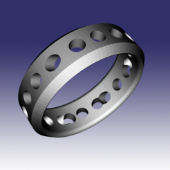 "Descargar modelo 3D gratis Anillo ""Holey"" moderno, the3dcoder"
