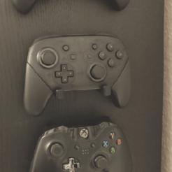 contr1.png Télécharger fichier STL gratuit Support de contrôleur universel (Xbox/Playstation/Nintendo) - Aucun support nécessaire ! • Objet à imprimer en 3D, the3dcoder