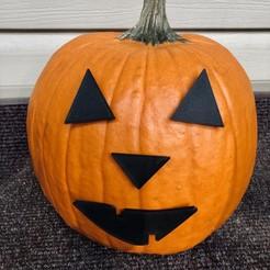 Download free 3D printer templates Mr. Pumpkin Head/Halloween Jack O Lantern Face/Kids Halloween Craft, the3dcoder