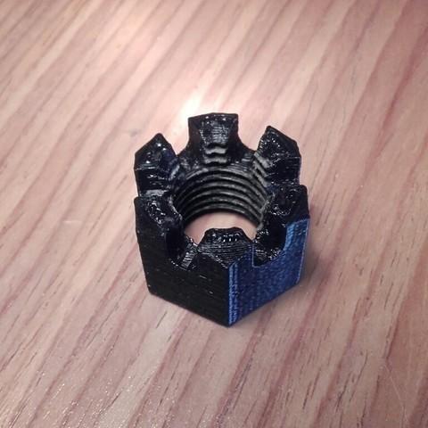 Télécharger plan imprimante 3D gatuit Ecrou M16 à créceaux, jpn3383
