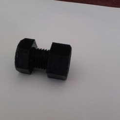 Descargar diseños 3D gratis Tornillo H M16x20 + Tuerca M16 + Tornillo H M16x50, jpn3383