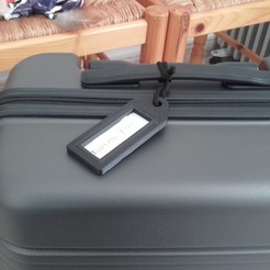 Download free 3D printing files Label holder for suitcase, jpn3383