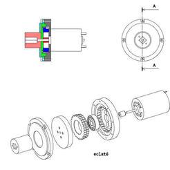 Download free 3D printer files axial geared motor, jpn3383