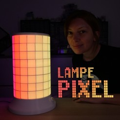 Free 3D printing templates The Animated Pixel Lamp, Heliox