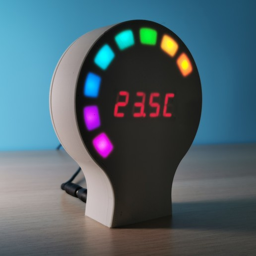 Download free 3D printing templates Digital thermometer / Thermomètre Digital (Arduino), Heliox