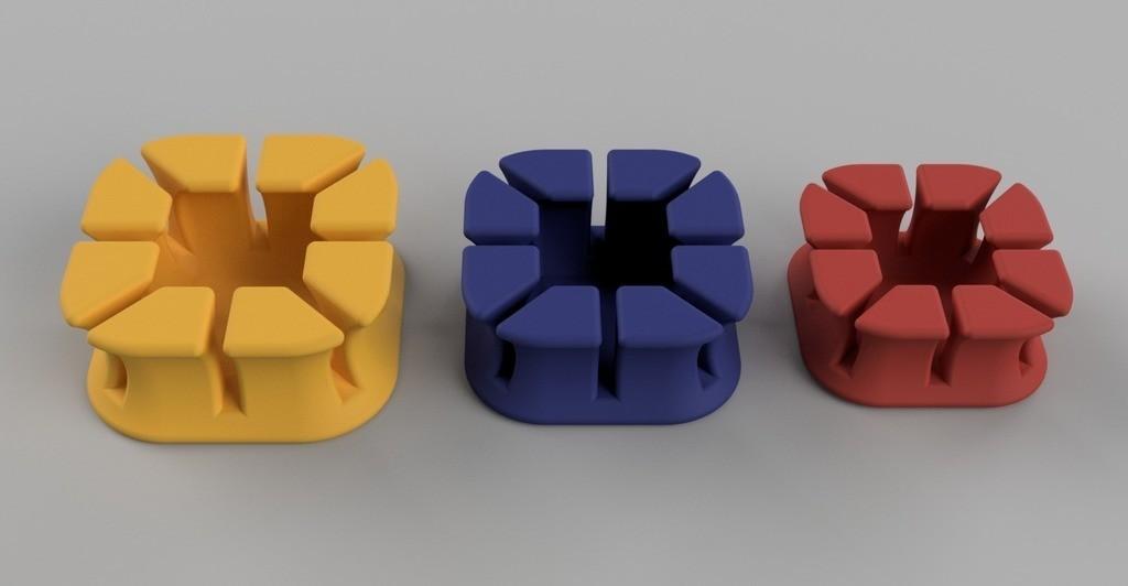 92eb961508b069a6c7877f0b5a19f1ec_display_large.jpg Télécharger fichier STL gratuit Earbud holder - 3 sizes • Objet à imprimer en 3D, Heliox