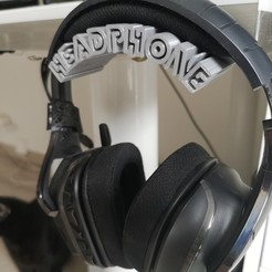Download free 3D printer designs Headphone Stand / Support de casque, Heliox