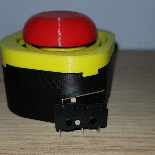 20200930_180521.jpg Download free STL file Emergency button for limit switch / buzzer • 3D printer object, Heliox
