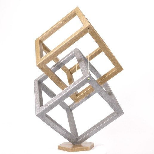 Descargar Modelos 3D para imprimir gratis Cubo levitante - Tensegridad, Heliox