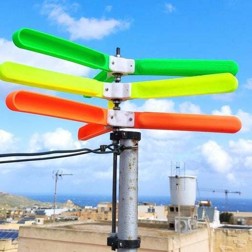 Download free 3D printer templates Contra-rotating Wind Turbine, Osprey
