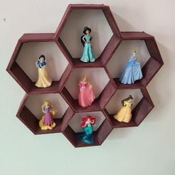 119433450_608414739791682_6651988196189757346_o.jpg Télécharger fichier STL gratuit Etagère en nid d'abeille pour sept mini figurines • Design pour imprimante 3D, Osprey