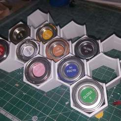 Download free 3D printing designs Humbrol paint tins holder, Osprey