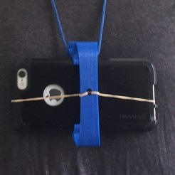C-clip_2_Lanyard.jpg Download free STL file Body Camera Phone Mount (attaches to shirt, lanyard or backpack) • 3D printing design, Bangsplat