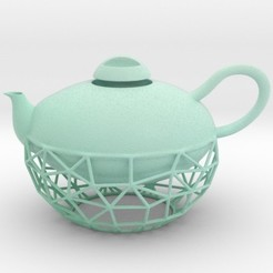 bluteapot.jpg Download STL file Wired Teapot • 3D print model, iagoroddop