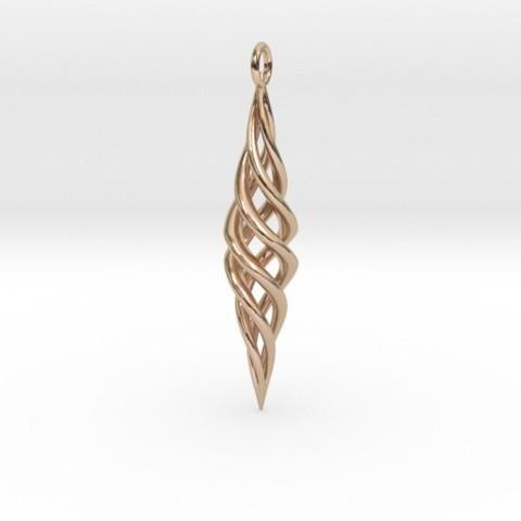 3D print files Seashell Spiral Pendant, iagoroddop