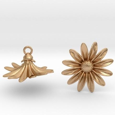 3D print model Daisies Earrings, iagoroddop
