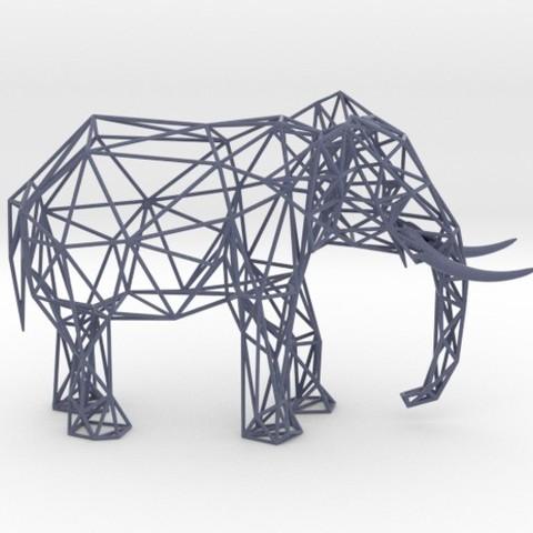 Modelos 3D Wire Elephant, iagoroddop