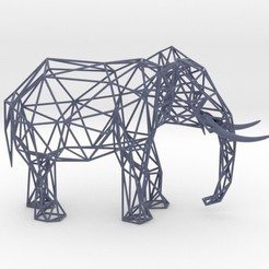 Download 3D printing templates Wire Elephant, iagoroddop