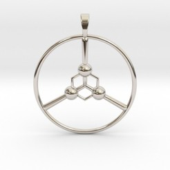 peace.jpg Download STL file Peace Pendant • Model to 3D print, iagoroddop