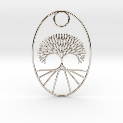 Plan imprimante 3D Pendentif Fractal Tree Oval, iagoroddop
