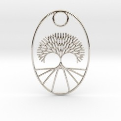Descargar archivos 3D Fractal Tree Oval Pendant, iagoroddop