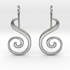 Modelos 3D para imprimir Spiral Earrings, iagoroddop