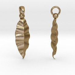 Modelos 3D Fractal Leaves Earrings, iagoroddop