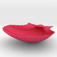scallopshell.jpg Download STL file Scallop Shell • Template to 3D print, iagoroddop