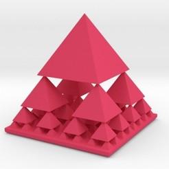 fractalpyramid.jpg Télécharger fichier STL Pyramide fractale • Objet pour imprimante 3D, iagoroddop