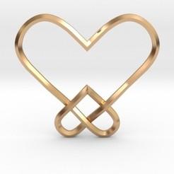 Fichier imprimante 3D Pendentif double noeud coeur, iagoroddop