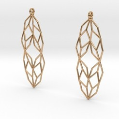 Diseños 3D L-System Earrings, iagoroddop