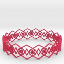 Télécharger fichier impression 3D Bracelet Etoiles, iagoroddop