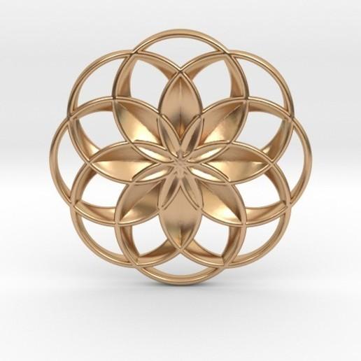 Télécharger modèle 3D Pendentif fleur de lotus, iagoroddop