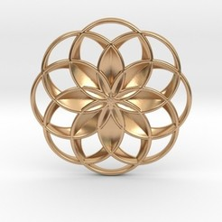 lotusfp.jpg Download STL file Lotus Flower Pendant • 3D printer object, iagoroddop