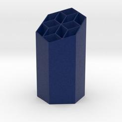 starhexpen.jpg Download STL file Starry Hexagonal Penholder • 3D printing object, iagoroddop