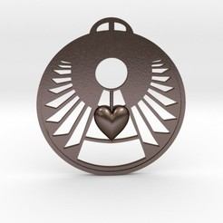 Download free 3D printer model The Heart Mind Angel Crop Circle Pendant, iagoroddop