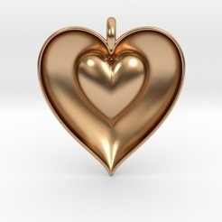 STL file Half Heart Pendant, iagoroddop