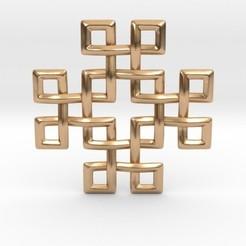 Imprimir en 3D Square Knots Pendant, iagoroddop