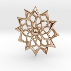 Download 3D printer templates Flower Pendant, iagoroddop