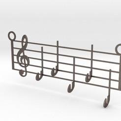 Imprimir en 3D Music Keys Hanger, iagoroddop